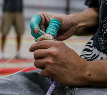 The eyes of each  Classic Rope are hand sewn